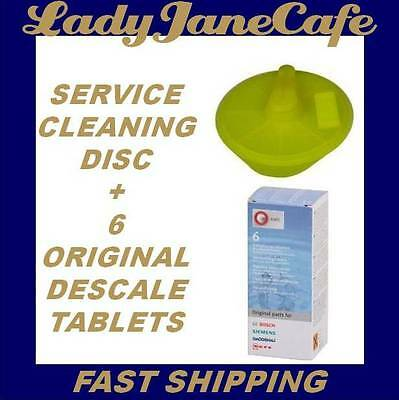 6 Descaling Descaler Cleaning Tablets & Service Disc Kit: Tassimo Coffee Machine