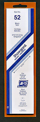 Showgard Stamp Mounts Size 52/215 BLACK Background Pack of 15