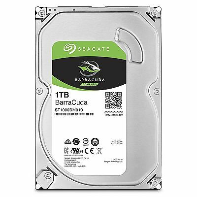 "1TB Seagate BarraCuda HDD 3.5"" SATA Internal Desktop Hard Drive 7200RPM 64MB"
