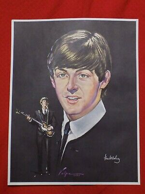 The Beatles Paul McCartney Volpe Color Portrait Poster