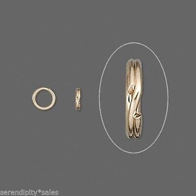 """KEY RINGS Lot 100 ~ 15mm Approx 5/8"""" Split Ring ~GOLD Plated Steel Findings"""