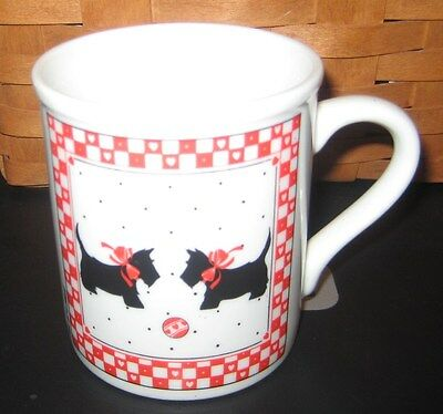 "Scottie Scottish Terrier Cup Mug Papel Japan ""Two of a Kind"" Vintage NOW ON SALE"