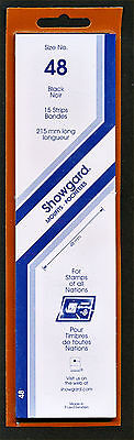 Showgard Stamp Mounts Size 48/215 BLACK Background Pack of 15