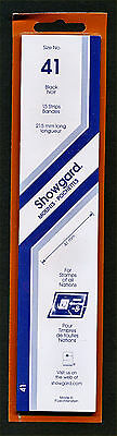 Showgard Stamp Mounts Size 41/215 BLACK Background Pack of 15