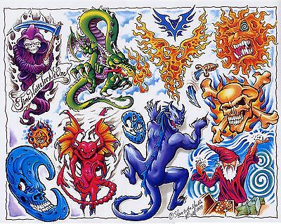 Tattoo flash sheets line art Color,BlackWhite Full sheets over 80,000 tattoos