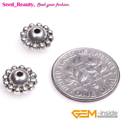 100pcs 5x9mm Bali Style Alloy Metal Spacers Craft Beads Flower Shape