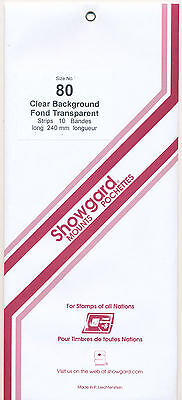 Showgard Stamp Mounts Size 80/240 CLEAR Background Pack of 10