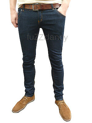 Drainpipes trousers hipsters skinny jeans vtg 80s 60s indie mod indigo all sizes