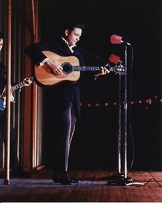 Johnny Cash In Concert 8X10 Music Color Photo Great!