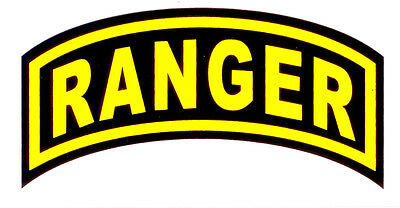 US Army Ranger Rocker Decal 3 Inches Wide