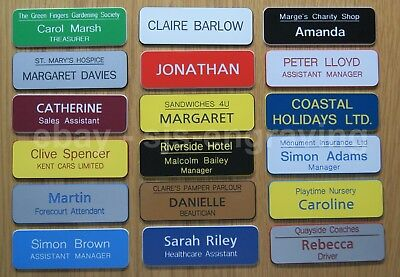 20 x Quality Engraved Name Badges - shops clubs pub schools offices medical etc.