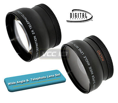 52mm Straight TELE AND 0.45X WIDE ANGLE FOR CAMERA CAMCORDER 52 MM FILTER LENS