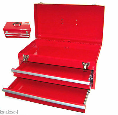 "Heavy Duty 18""  Metal Tool Chest ToolBox Cabinet 2 Drawers Storage Tool Box"