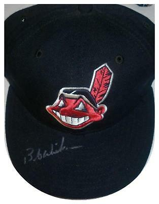 Signed Indians Bob Wickman Autographed Game Hat W/pic