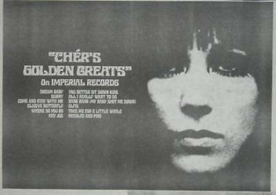 Cher Golden Greats 1968 LP Album Promo Poster Type Ad