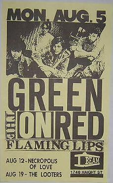 Flaming Lips Rare EARLY Original Concert Flyer Poster