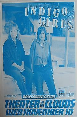 Indigo Girls Theater Of The Clouds Concert Tour Poster