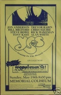 Yes In The Round 1991 Portland Oregon Concert Poster