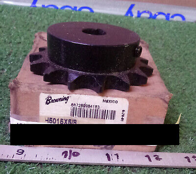 1 New Browning H5015X5/8 Finished Bore Roller Chain Sprocket ***make Offer***