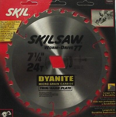 "Skil 76924 7-1/4"" x 24 Tooth Worm Drive 77 Carbide Saw Blade"