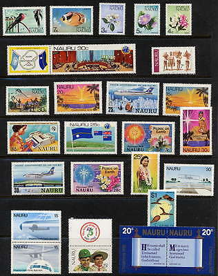 Fine Collection Of  Mint Never Hinged Postage Stamps From Nauru - 25 Different!