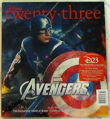 DISNEY Twenty-Three 23 SUMMER 2012 Marvel AVENGERS Captain America COVER NIP New