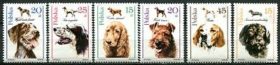 Poland 1989 Domestic Dogs Set Of Six Stamps Mint Never Hinged Complete!