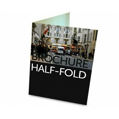 "1000 Half Fold Glossy Brochures REAL PRINTING not copies 8 1/2"" x 11"" Full Color"
