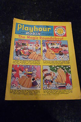 "PLAYHOUR & ROBIN - (1972) - Date 04/11/1972 - Inc ""The Magic Roundabout"""