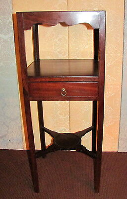 Antique English Georgian Mahogany Washstand Circa 1785