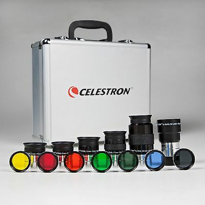 Celestron Eyepiece Accessory Kit + Six Planetary filters + Moon filter + Case
