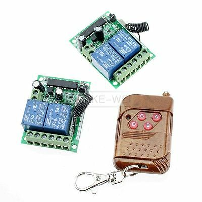 4 Channel Wireless RF Remote Control with 2 Receivers 433MHz