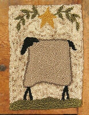 "Primitive Punch Needle Pattern ~ Petite Prims Series ""sheep"""