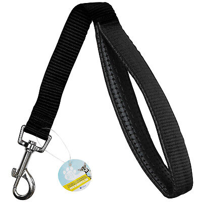 Me & My Black Short Close Control Dog Lead/Training/Traffic Strong Padded Grip