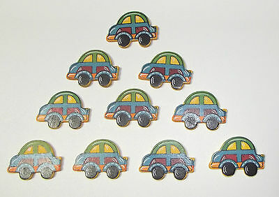 New Mini Painted Wood Car 26-Pack