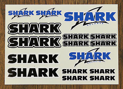 SHARK HELMET STICKER SETS - SHEET OF 16 STICKERS - DECALS - Helmet