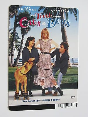 TRUTH ABOUT CATS AND DOGS promo backer art card UMA THURMAN