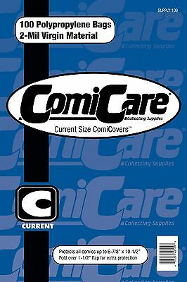Comiccare 100 Current Size Comic Book Bags Pp