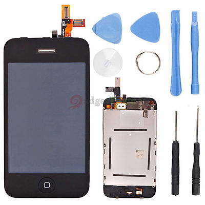 US# Full Assembly Front Glass Touch Screen LCD Digitizer + Tools for iPhone 3GS
