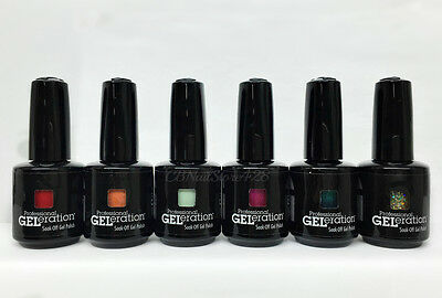 Jessica GELeration Soak Off Gel Polish 0.5oz/15ml - Set of 6 Colors