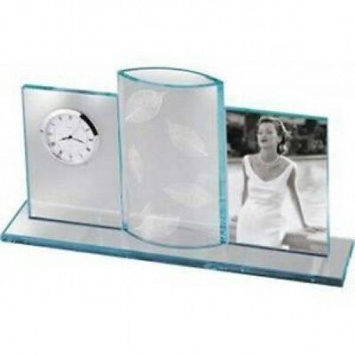 Bulova Clock With Vase and Picture Frame, #B2870, Engraved Free, New In Box