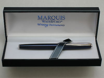 Waterford Marquis Claria Blue Rollerball Pen, New In Box