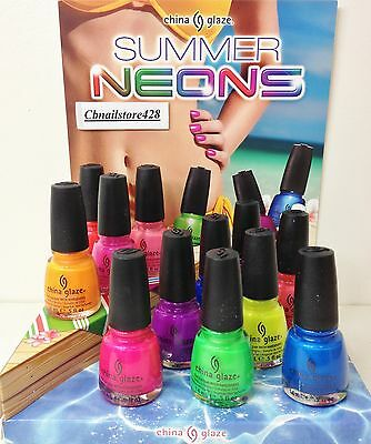 *China Glaze Nail Lacquer- SUMMER NEONS 1083-1094- Pick Any Color