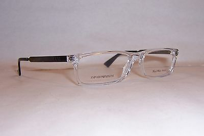 c98a97843a NEW Emporio Armani EYEGLASSES EA 9770 TDW RUTHENIUM 50mm RX AUTHENTIC