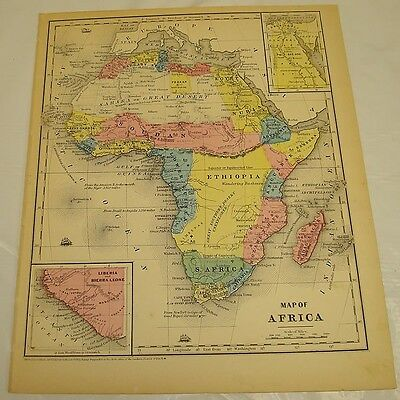 1854 Smith's Antique Color Map of AFRICA