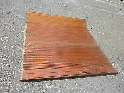 "c1900 ROLLING wooden TAMBOUR style door units 81"" long x 72"" wide w/HARDWARE"