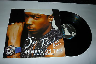 "JA RULE featuring ASHANTI - Always On Time - 2002 UK 3-track 12"" single"