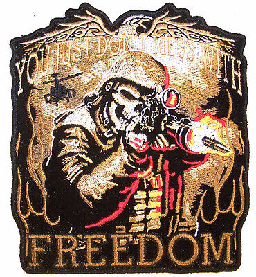 DONT MESS W FREEDOM DELUXE PATCH JBP43 military soldiers iron on patches NEW