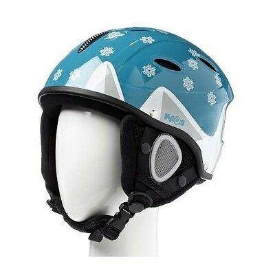 Kaos Kids Boys Childs Snow Ski Skiing Helmet (Small Size / 55Cm) Aqua