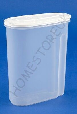 Whitefurze Medium/large Dry Food Storer Plastic Storage Container Cereal Box